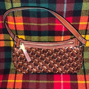 ❤️NWOT NINE WEST MUTI COLOR LEATHER WOVEN PURSE